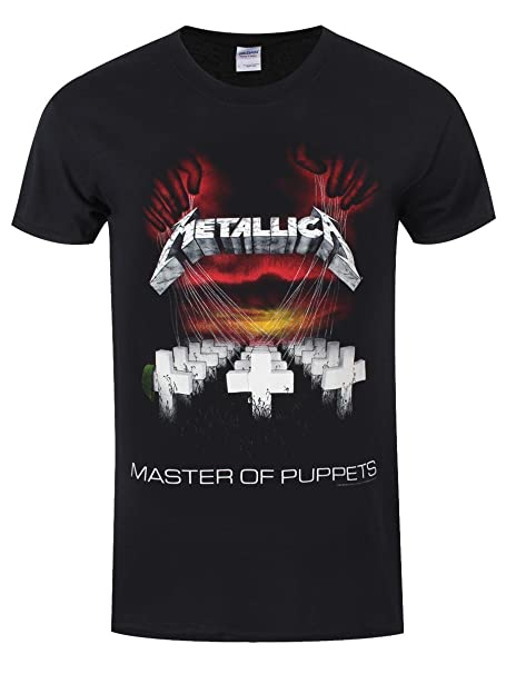 Generic Mens Metallica T-Shirt-Master Of Puppets X-Large Black