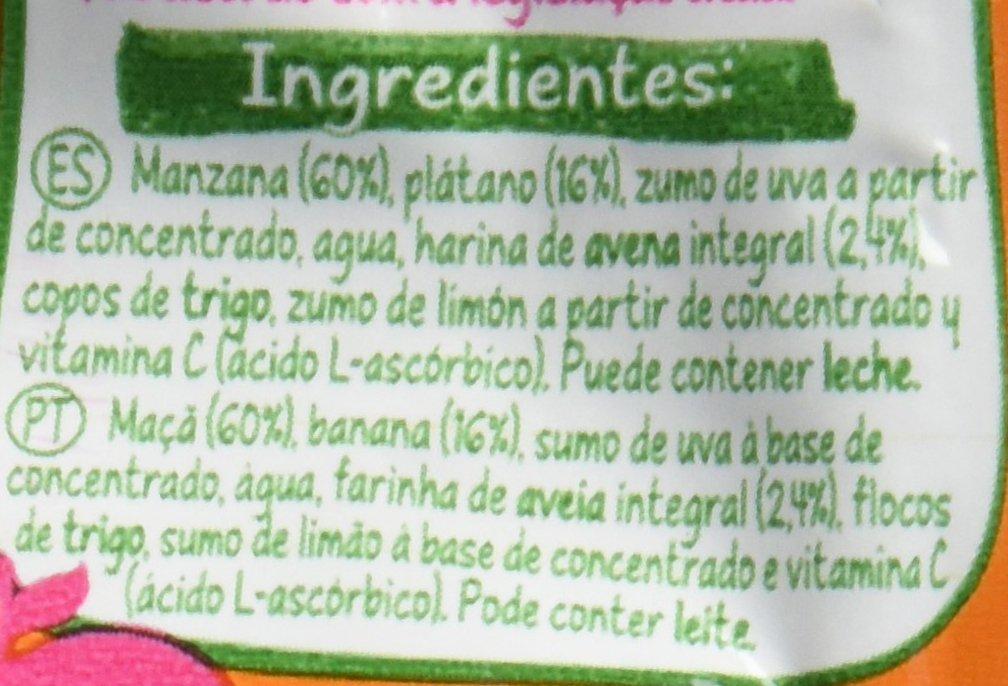 Nestlé Naturnes - Bolsitas de Manzana, Plátano y Avena - A Partir de 6 Meses - Pack de 8 x 90 g: Amazon.es: Alimentación y bebidas