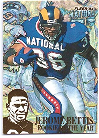 separation shoes 847b7 1b6dd Jerome Bettis 1994 Fleer Rookie of the Year #12 - St. Louis ...