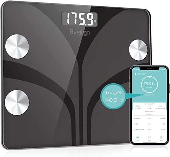 Bveiugn Smart Wireless Digital Bathroom BMI Weight Scale
