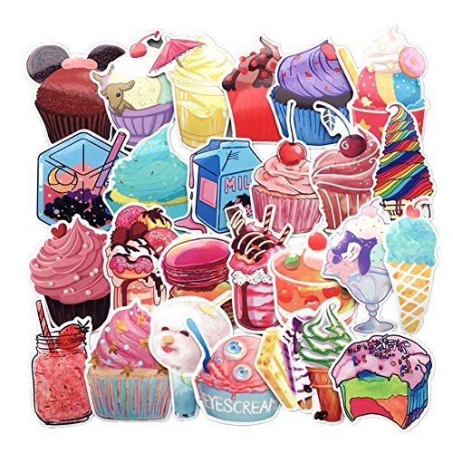 (Homyu Stickers Pack 70-Pcs Decals of Sweets for Laptops Cars Motorcycle Portable Luggages Ipad Waterproof Sunlight-Proof)
