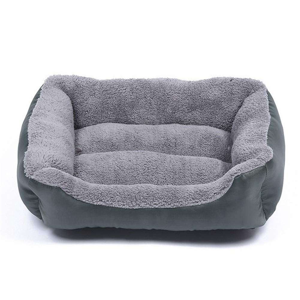 L PetvillaLKR Pet Dog Bed Mat For Small Large Dogs Beds Puppy Sofa Cat Kennels House Beds Solid Grey Warm Cotton Pet Bed 4-Size 7,L
