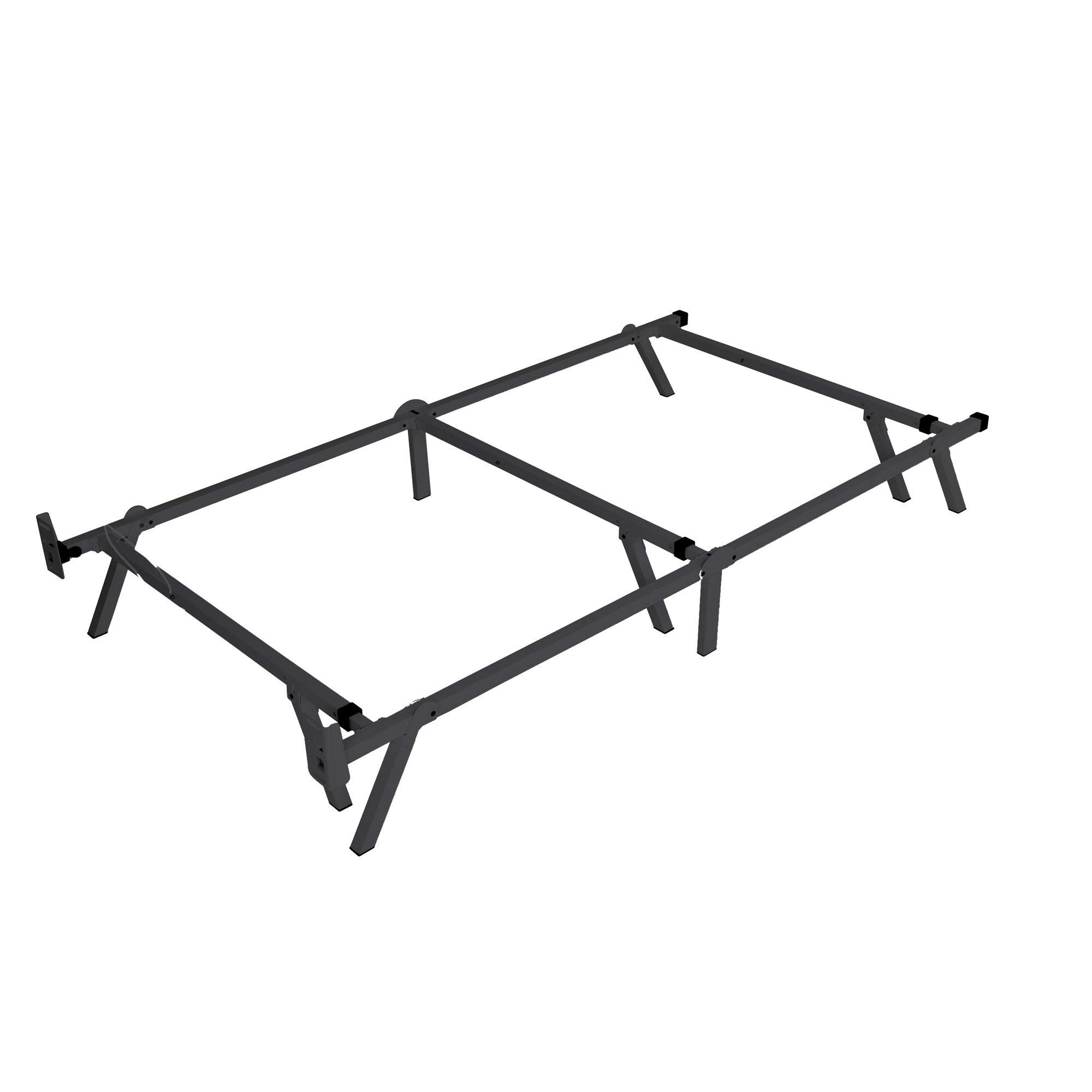 intelliBASE Low Profile Adjustable Twin Full Queen Box Spring Metal Bed Frame 9''