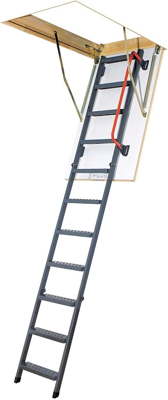 LWK Komfort, 60 x 140 x 305 cm Speichertreppe Ged/ämmte Bodentreppe mit LXL Abdeckleisten und LXK Montagewinkel Viele Gr/ö/ßen und Modellen Dachbodentreppe