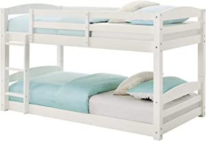 Max & Finn Twin Floor Bunk Bed, White
