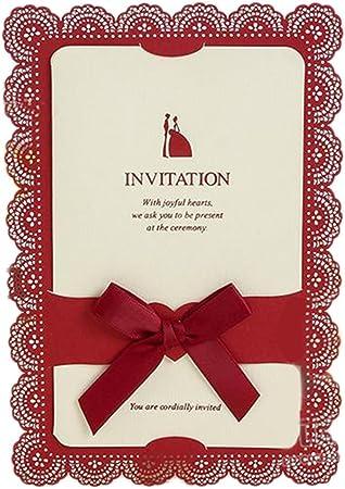 Demarkt 1 Pcs Faire Part Cartes élégant Invitation De