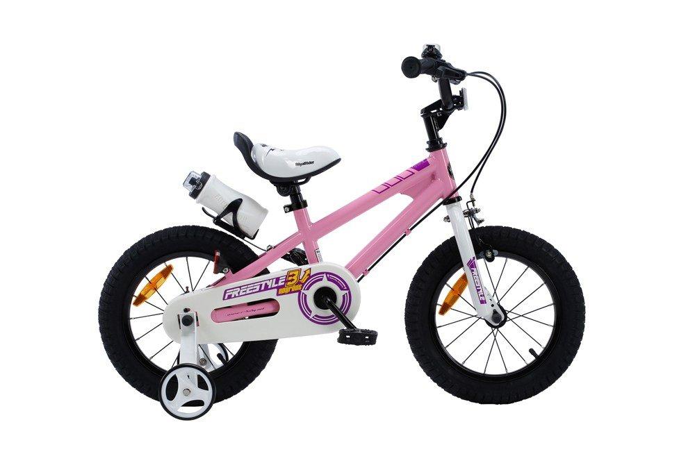 ROYALBABY(ロイヤルベイビー) 補助輪付き 子ども (幼児向け) 自転車 ピンク[メーカー保証1年]フルカバーチェーンケース ボトル&ボトルケージ付属RB-WE FREESTYLE B01NCJ8EVK