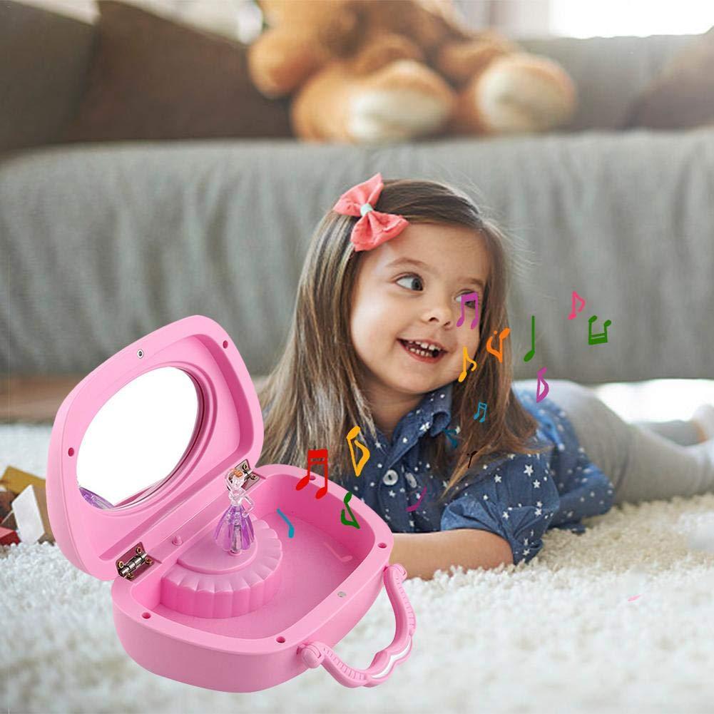 Portagioie Musicale Bambina Rosa E Celeste Carillon Per Bambini Cofanetto Portagioie Musicale Portagioie Ballerina Bambina Scatola Regalo Per Bambini
