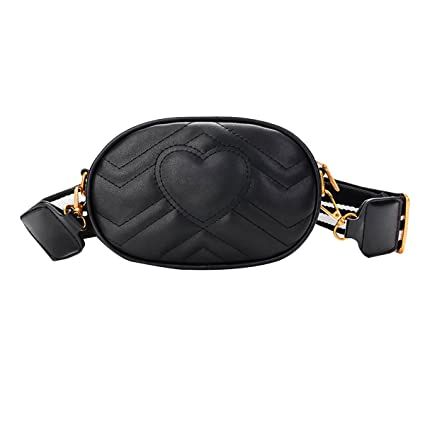 99f826567162 MM&SS SHOP 2-Way Leather Fanny Pack | Small Cross Body Purse | Waist Pack  Bum Bags for Womens Girls (Black)