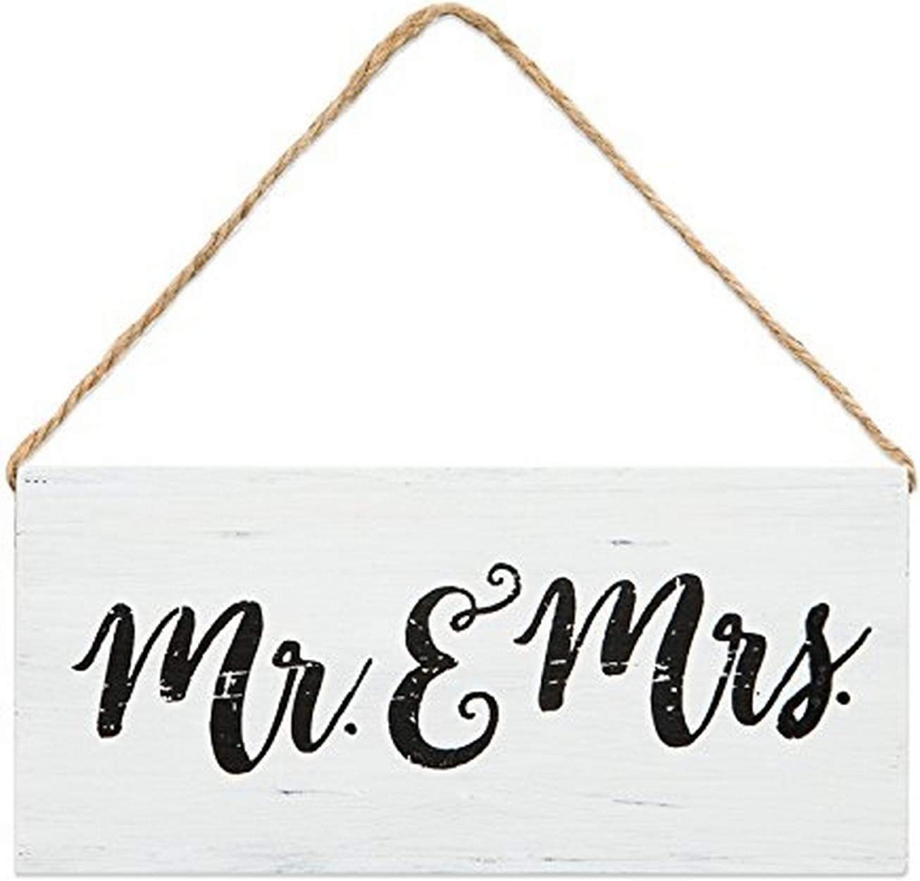 Brownlow Gifts Wooden Sentiment Sign, Mr & Mrs