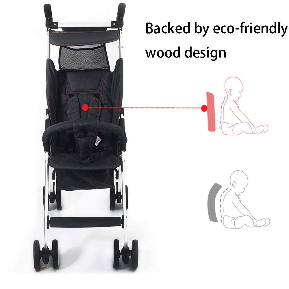 HKJCC Baby Stroller Can Sit and Lie Super Light Portable Folding Children High Landscape Hand Push Simple Can Be on The Plane Pocket Umbrella by HKJCC (Image #6)