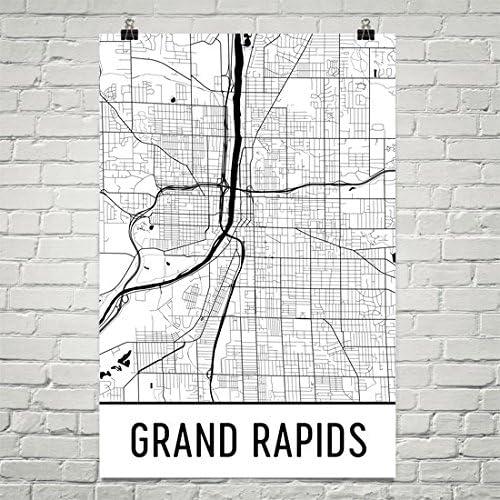 Amazon Com Grand Rapids Poster Grand Rapids Art Print Grand Rapids Wall Art Grand Rapids Map Grand Rapids City Map Grand Rapids Michigan City Map Art Grand Rapids Gift 12 X 18 White