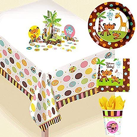 Amazon Fisher Price Baby Shower Jungle Party Supply Bundle 16