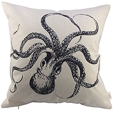 HOSL Octopus Square Decorative Throw Pillow Case Cushion Cover about 17.317.3 Inch(44CM44CM)