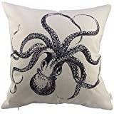 HOSL P10 Decorative Square Throw Pillow Case Sofa Cushion Cover Throw Pillow Shell Pillowcase Octopus