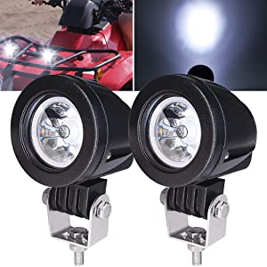 Ourbest Motorcycle Driving Lights,10W 2inch SPOT LED Fog Lights for Harley Yamaha Motorbike Accent Off Road Lighting
