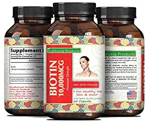 Pure And Potent Biotin Supplements To Combat Hair Loss + Support Hair Growth + Aid In Weight Loss For Men And Women - Natural Vitamins For Hair Growth - Can Help Reduce Thinning Hair