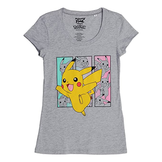 Pokemon Pikachu cajas Juniors Camiseta, Heather Gris: Amazon.es: Ropa y accesorios