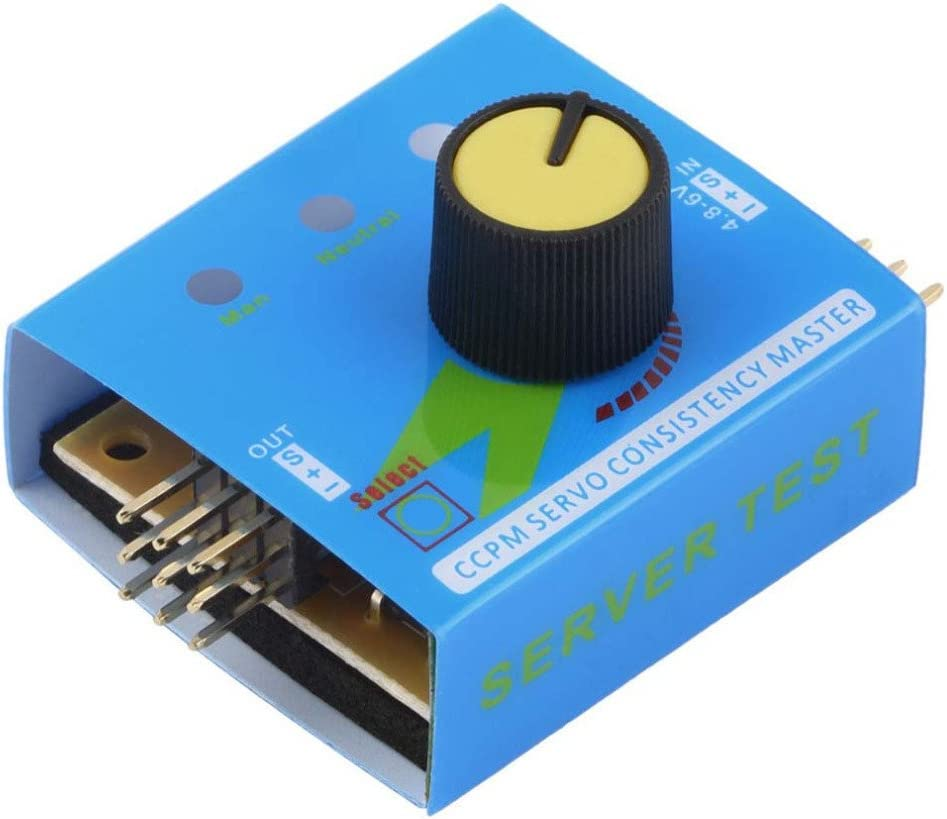 3CH ESC Servo Tester,CCPM Consistency Master Checker,DC4.8-6V,Applicable to Helicopter Steering Gear in CCPM Mode