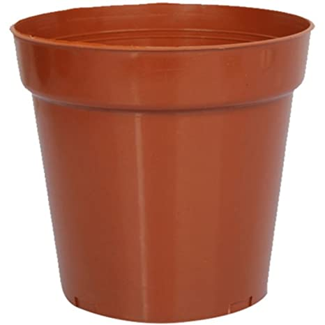 First Smart Deal 8 Inch Plastic Nursery Planter Pot Pack of 16 - Brown