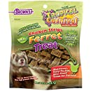 Tropical Carnival F.M. Brown's Natural Chicken Strips Ferret Treat, 2-oz Bag - Made with Real Chicken, Easy-To-Eat, Bite-Size