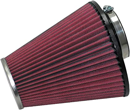 K/&N Round Tapered Chrome air Filter 2.25 Flange 3.5 Base 2 Top OD 4 Height 2 per