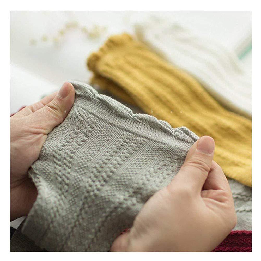 Pack of 3//5 Unisex Baby Cotton Uniform Knee High Socks Tube Ruffled Stockings for Girls and Boys