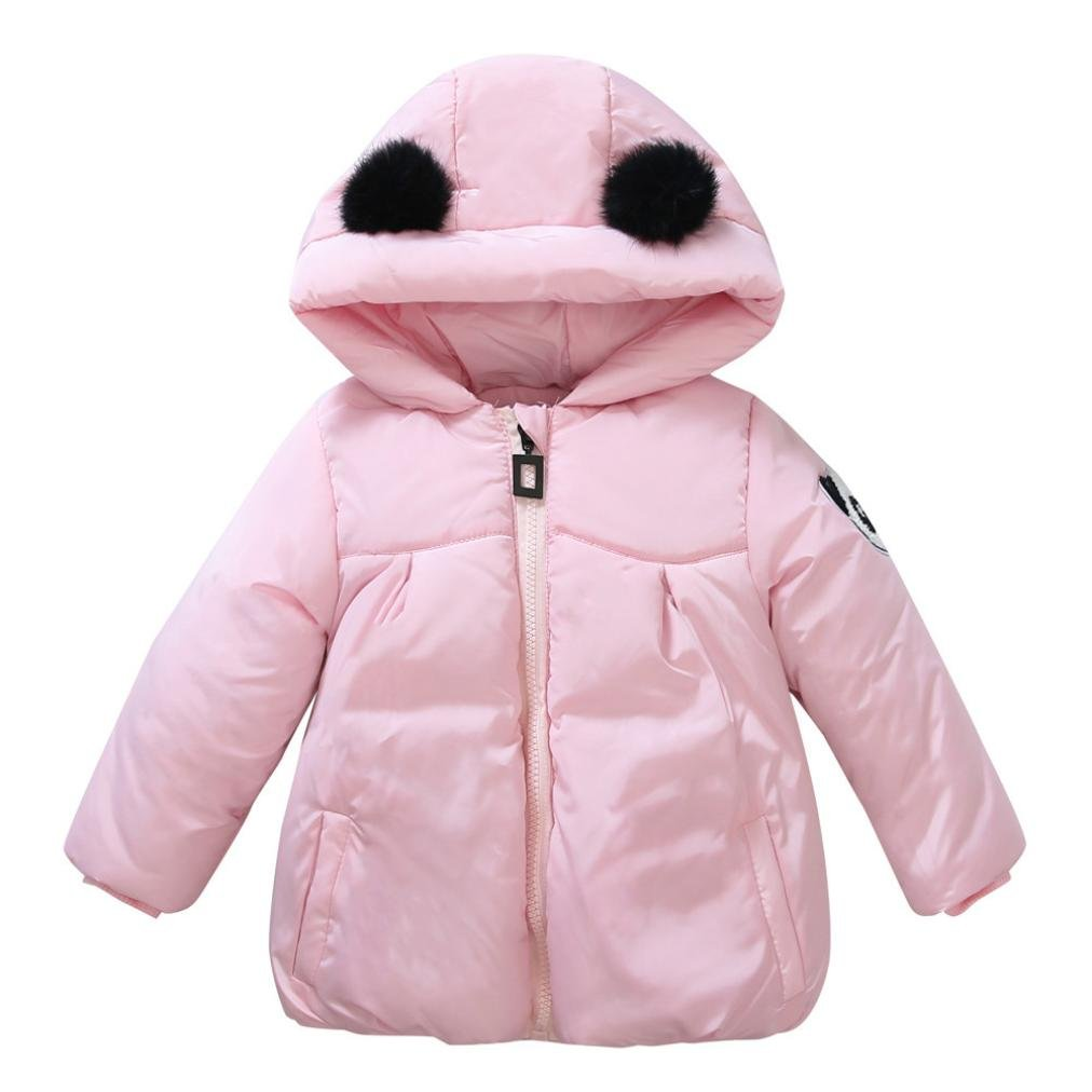For 0-4 Years old, Clode® Lovely Toddler Baby Girls Boys Kids Panda Print Parka Down Jacket Coat Autumn Winter Warm Children Clothes Clode-T65