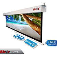 ELCOR Wall Type Spring Action Projector Screen 6ft. x 8ft.-120″ Diag.