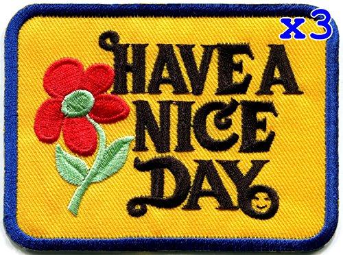 slogan hippie retro embroidered applique