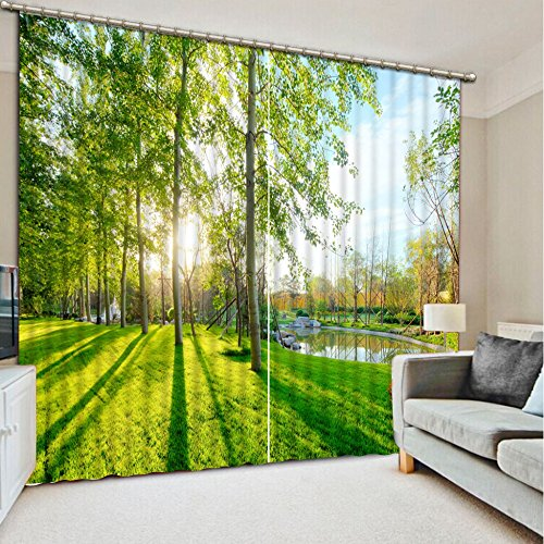 Sproud 3D Printing Curtains Lifelike Blackout Cortians Beautiful Full Light Shading Bedroom Livng Room Curtains 240Dropx300Wide(Cm) 2 pieces by Sproud