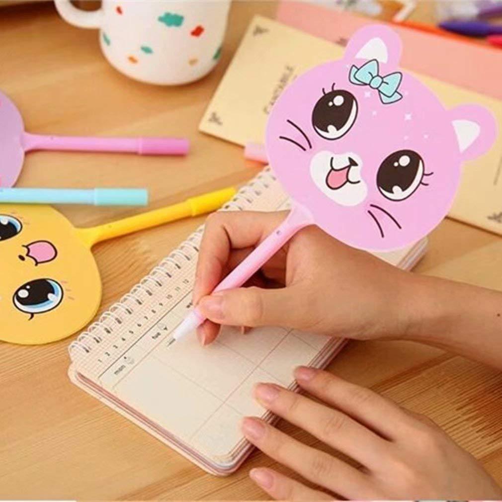 Student Nette Kawaii Fan Kunststoff Kugelschreiber Cartoon Tier Kugelschreiber F/ür Kinder Neuheit Geschenk Schreibwaren von TheBigThumb