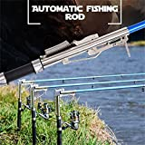 Lightweight Stainless Steel Automatic Fishing Rod Sea River Lake Fishing Pole 2.4m