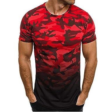 Camouflage Blouse Hommes Homme T Tops Mode ShirtShirt De 8wO0XPkNn