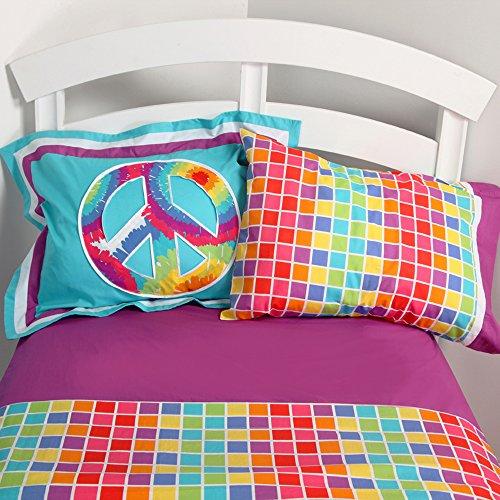 One Grace Place Terrific Tie Dye Twin Sheet (Tie Dye Twin Bedding)