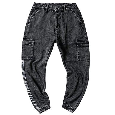 SUCES Pantalones Vaqueros Cargo, Hombre, Vaqueros ...