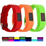Dunfire Replacement Wristbands and Clip Cases For Garmin Vivofit 3 and Vivofit JR, Large Size and Small Size bands, One Size Clip Case