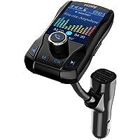 VICTSING Transmetteur FM Bluetooth Écran Coloré 1.8 Pouces Kit Voiture Appel Main-Libre sans Fil Adaptateur Émetteur Radio Chargeur avec 3 Ports USB et Bouton Off