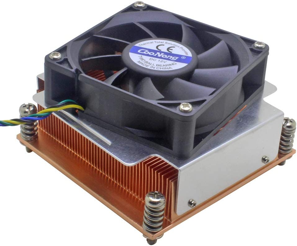2U Server CPU Cooler Copper heatsink for Intel Xeon LGA 2011 2066 Industrial Computer Active Cooling