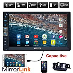 New Brand Upgarde Version 7 Inch Capacitive Touch Screen Audio (Mirror Link for GPS of Android Phone) Double 2 Din Bluetooth Car Stereo In Dash Video Auto radio Without DVD Player+Rear View CameraIntroductions: 7 inch Capacitive touch screen ...