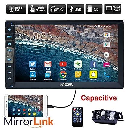 Amazon com: EinCar Upgarde Version 7 Inch Capacitive Touch Screen