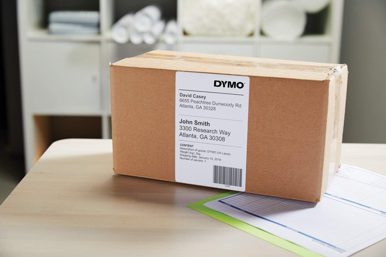 Dymo S0722430 3 rouleaux de 220 54 x 101 mm noir//blanc /Étiquettes d/'exp/édition//Badge nominatif Impression noir sur blanc