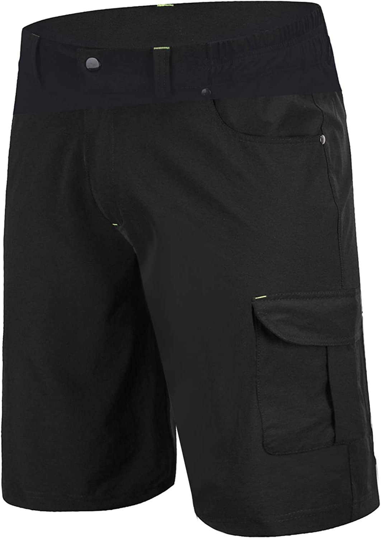 Mens Cycling Mountain MTB Bicycle Loose Shorts Sports Pants Cargo Zipper Pockets