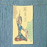 L-QN absorbent towel Beautiful dance for life Soft Cotton Durable W11.8 x H27.5 INCH