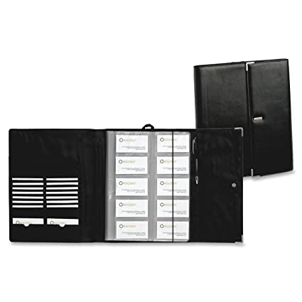 Amazon rolodex active view business card book faux leather rolodex active view business card book faux leather 240 card black and colourmoves