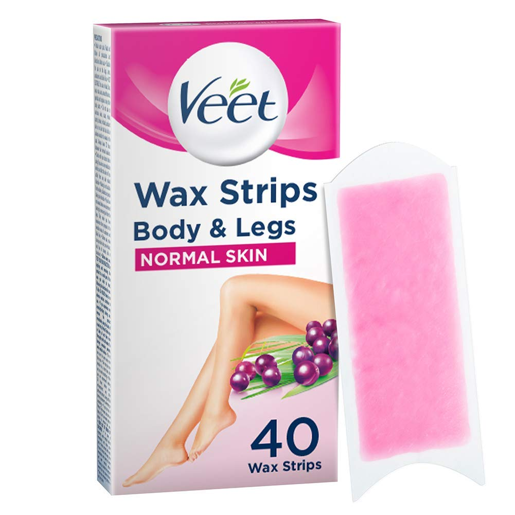 Amazon Com Veet Ready To Use Wax Strips Normal X 40 Hair