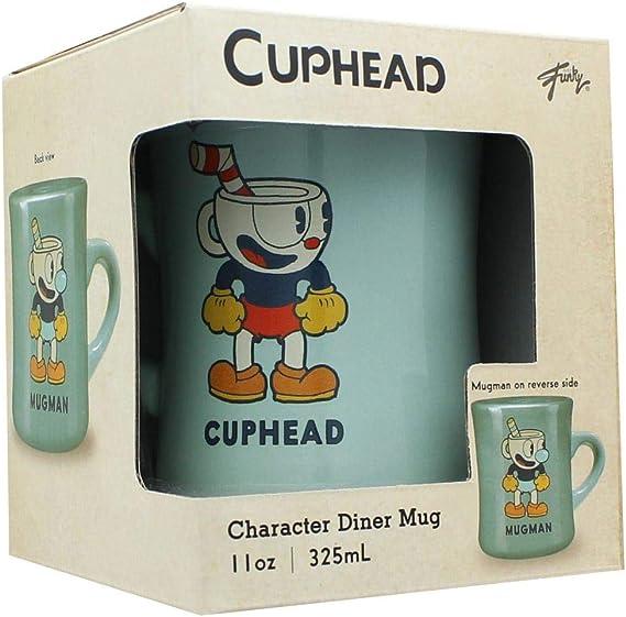 Cuphead and Mugman 16oz Ceramic Diner Mug