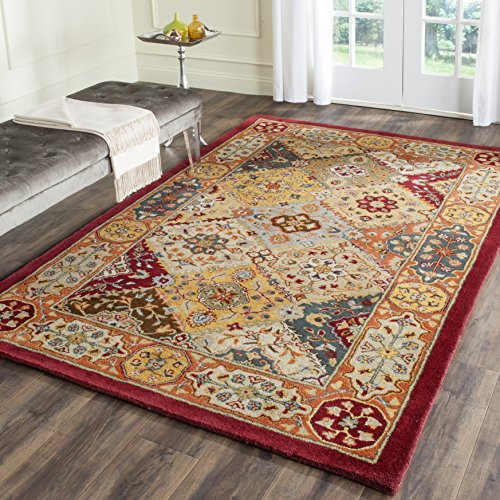 10 Square Oriental Rug (Safavieh Heritage Collection HG512A Handcrafted Traditional Oriental Multicolored Wool Square Area Rug (10' Square))