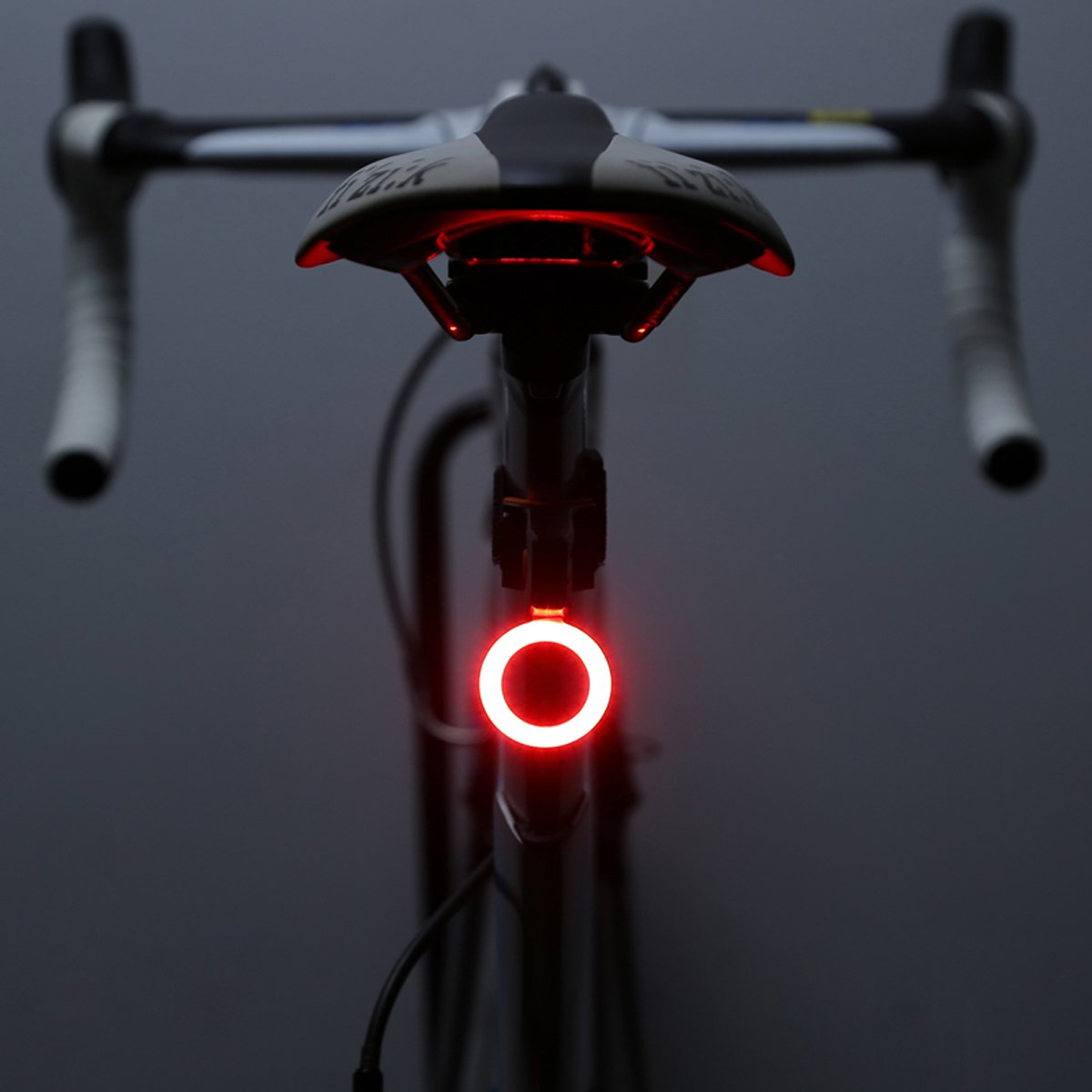 OUTERDO Bike Taillight, Rear Light USB Rechargeable 70 Lumens LED Bicycle Red Taillight with Different Shapes 5 Modes Super Bright 300mAh Fits on Road Bikes, Helmets, Cycling Safety Flashlight Circle