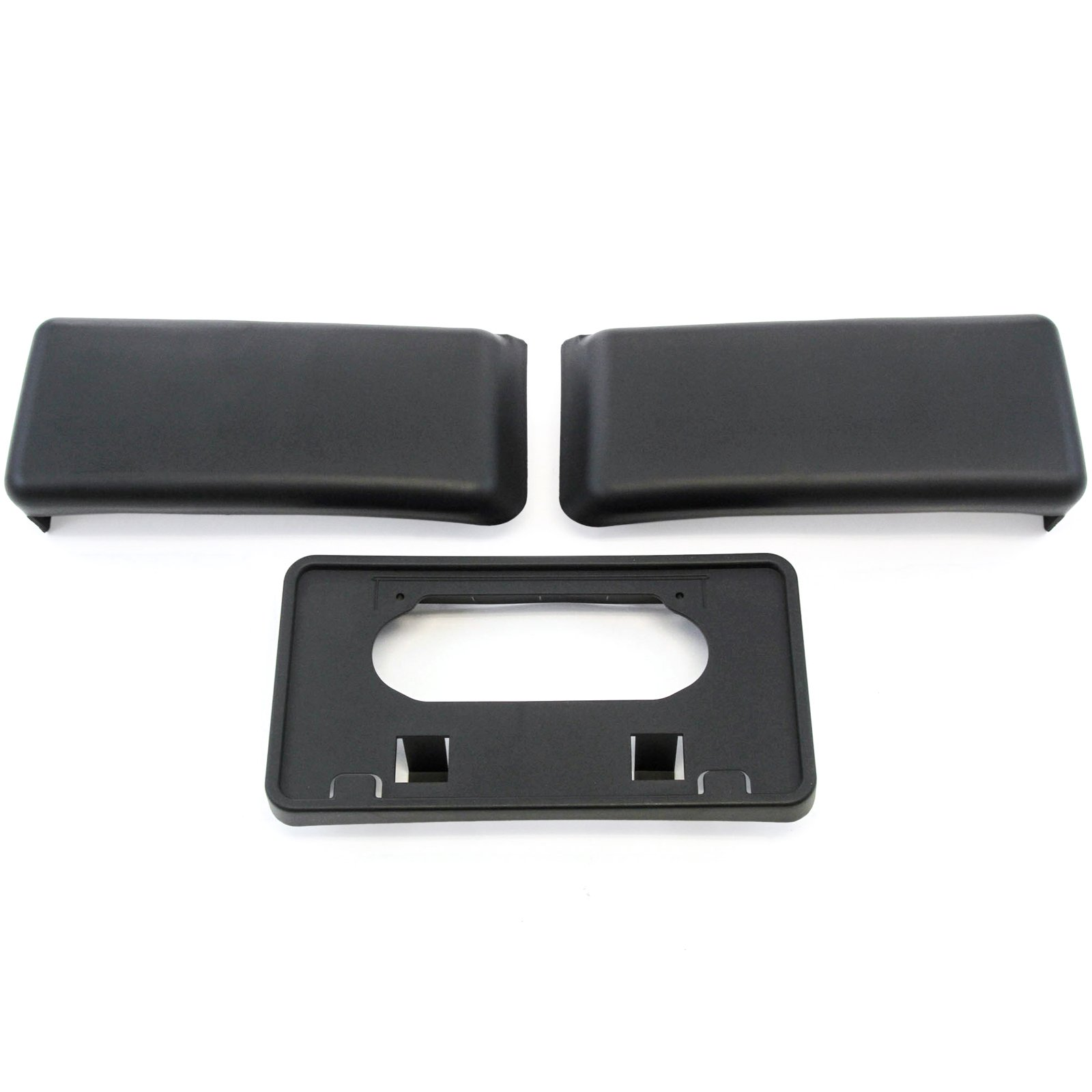 Red Hound Auto Front Bumper Guards Pads & License Plate Tag Bracket Set for 2009-2014 Compatible with Ford F150